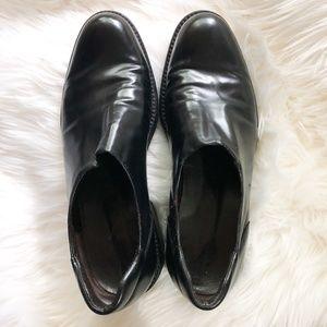 Donald J Pliner Black Slip On Loafers Size 8